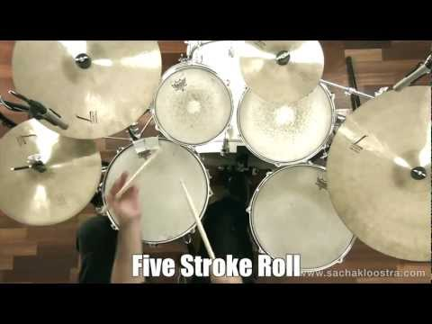 Five Stroke Roll Drum Rudiment On Snare & Drum Kit - 동영상