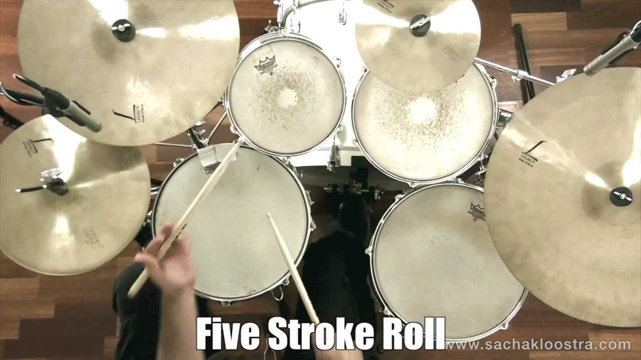 five stroke roll drum rudiment on snare drum kit youtube. Black Bedroom Furniture Sets. Home Design Ideas