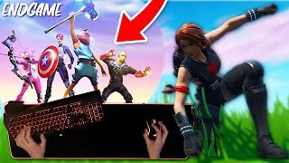 FORTNITE ENDGAME LTM + NEW BLACK WIDOW SKIN (Keyboard Cam)