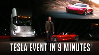 Tesla Semi truck and Roadster event in 9 minutes thumbnail