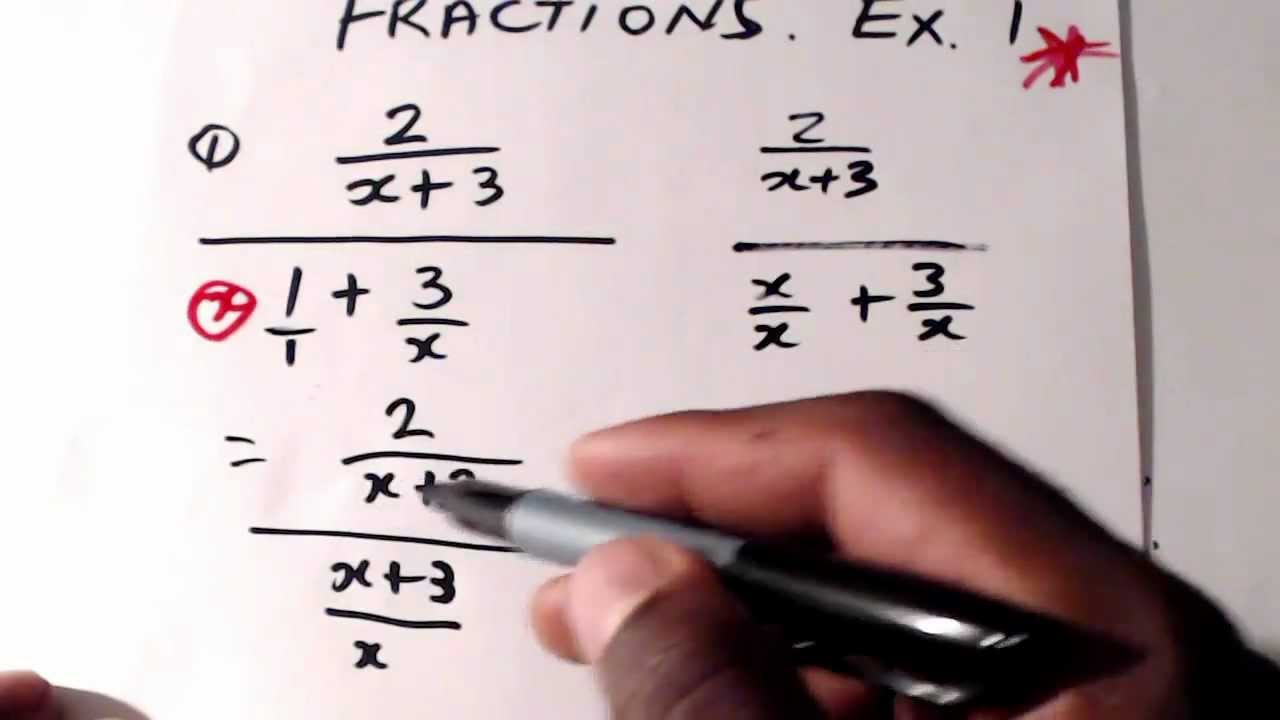 Cxc math simplifying complex fractions example 1 csec cxc maths simplifying complex fractions example 1 csec cxc maths act math sat math youtube robcynllc Image collections