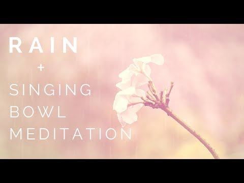 Monsoon Rain + Healing Tibetan Singing Bowl Music for Meditation
