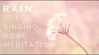 Monsoon Rain + Healing Tibetan Singing Bowl Music for Meditation