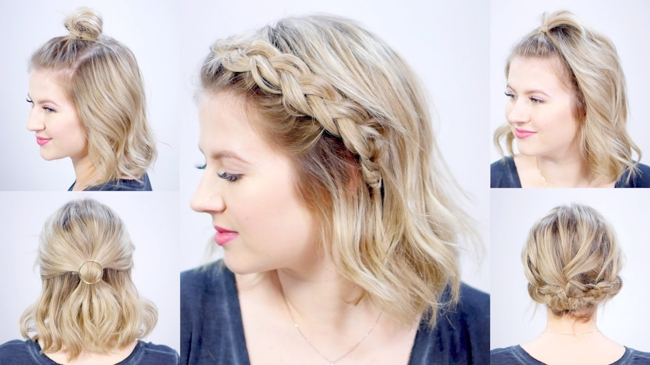 Cute Hair Styles For Medium Hair: FIVE 1 MINUTE SUPER EASY HAIRSTYLES