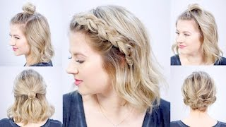 FIVE 1 MINUTE SUPER EASY HAIRSTYLES | Milabu
