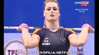Weightlifting.Halterofilia. Lidia Valentin. Mundial 2007
