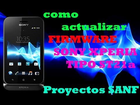 Como Actualizar Firmware Oficial Compilacion 27 Sony Xperia Tipo st21a(i) 2016
