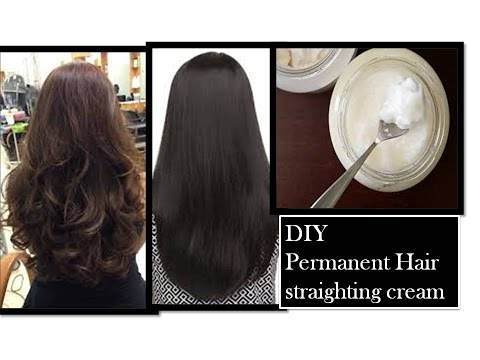 Thumbnail: permanent hair straightening at home | using Natural ingredients