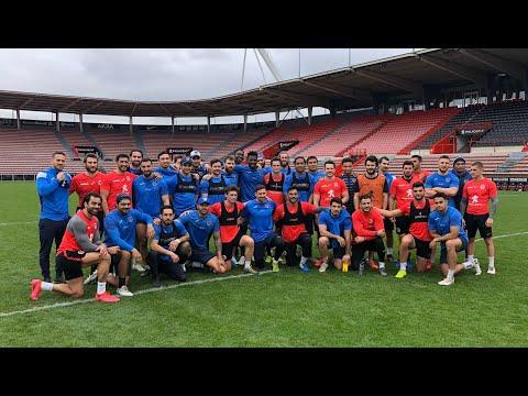 TO XIII x Stade Toulousain - Entraînement en commun - 12.03.2020