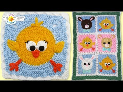 Chick & Bunny Baby Blanket Crochet Tutorial – Super Cute Kids Decor!