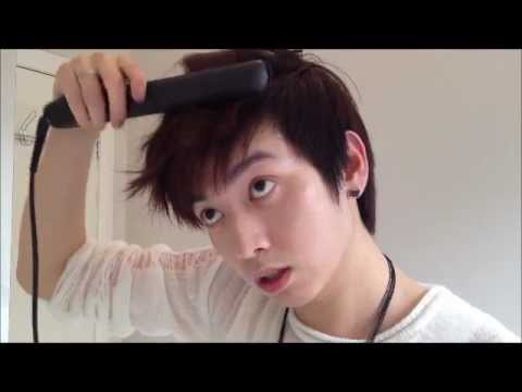 Wavy Asian Hair Tutorial Part YouTube - Bts v hairstyle tutorial