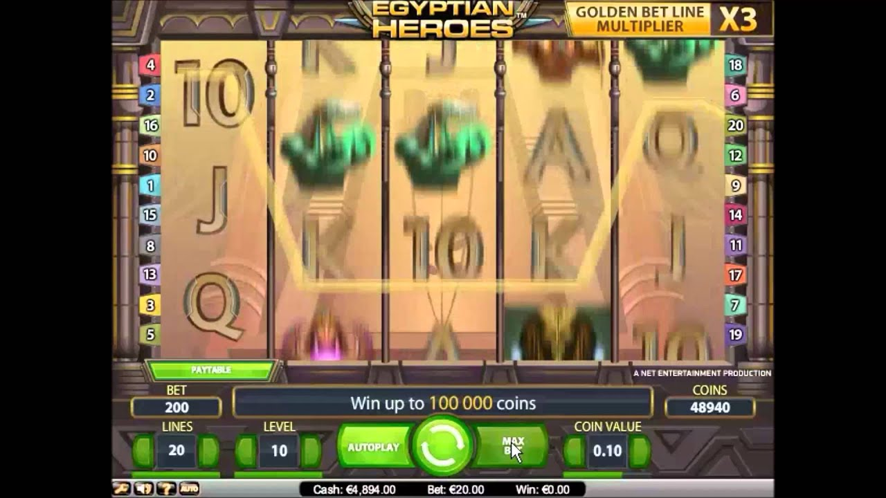 Play The No Download Egyptian Heroes Slots Here