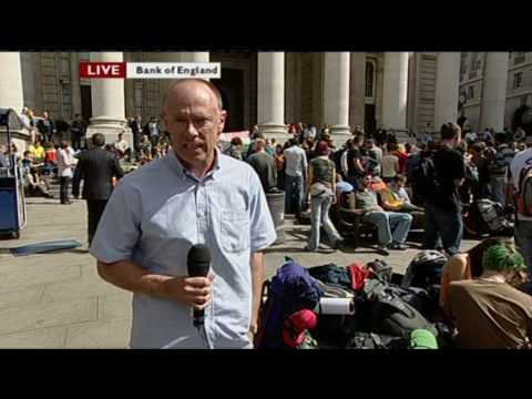 Climate Camp swoop lunchtime BBC London coverage