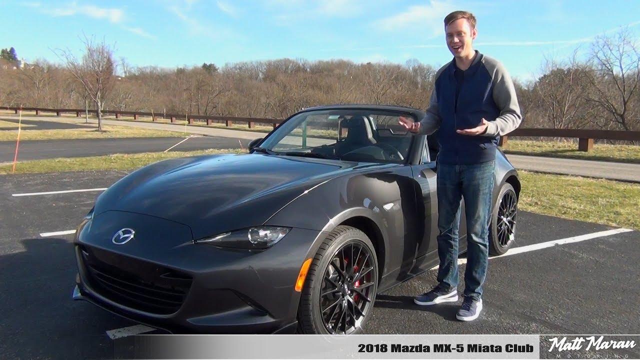 Review 2018 Mazda Mx 5 Miata Club Manual Pure Driving Joy