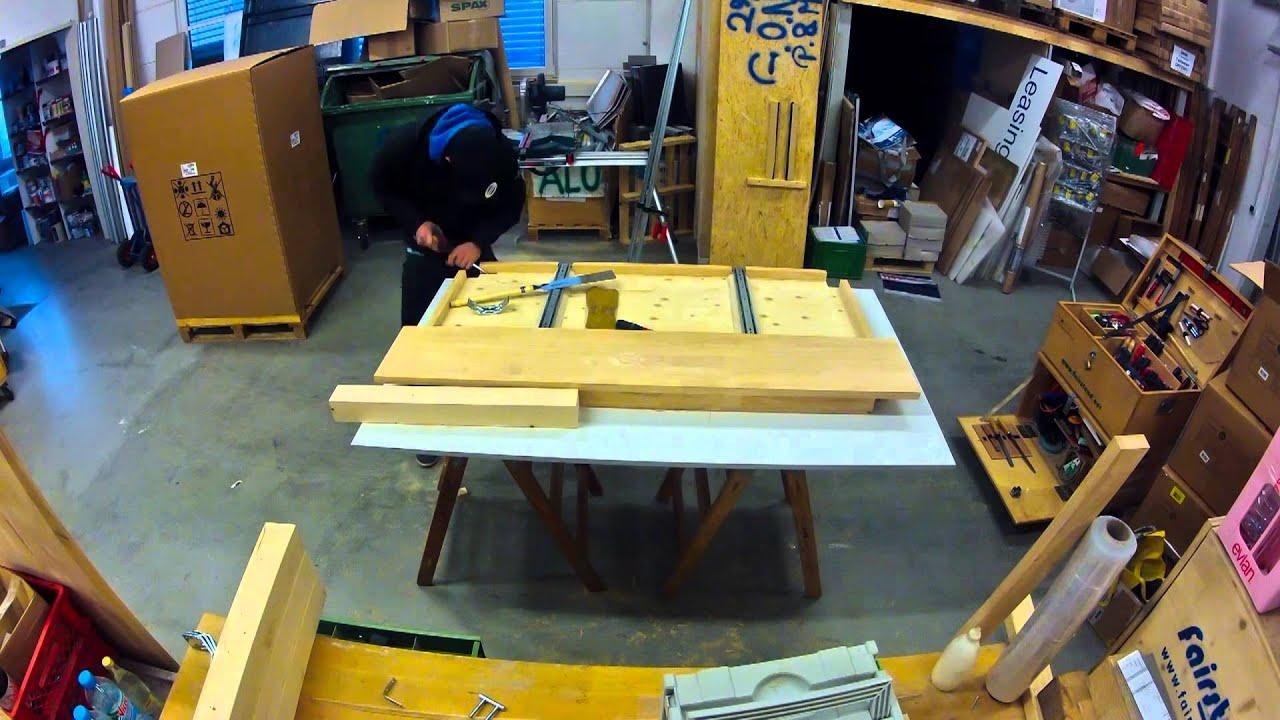 Schreibtisch Eigenbau Timelapse - EL-Pictures - YouTube