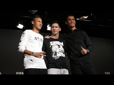 #BallondOr2015 - Rueda de prensa de Messi y Neymar antes de la gala