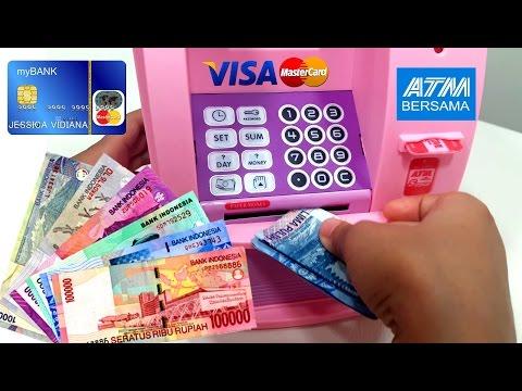 Mainan Mesin ATM Pakai Uang Beneran 💖 TABUNGAN/CELENGAN Anak 💖 Let's Play Jessica 💖