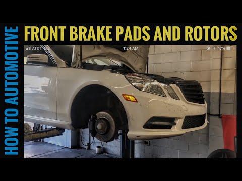 For Mercedes C207 E350 E550 C204 A204 Rear Brake Pad Set /& Rotors /& Sensor Kit