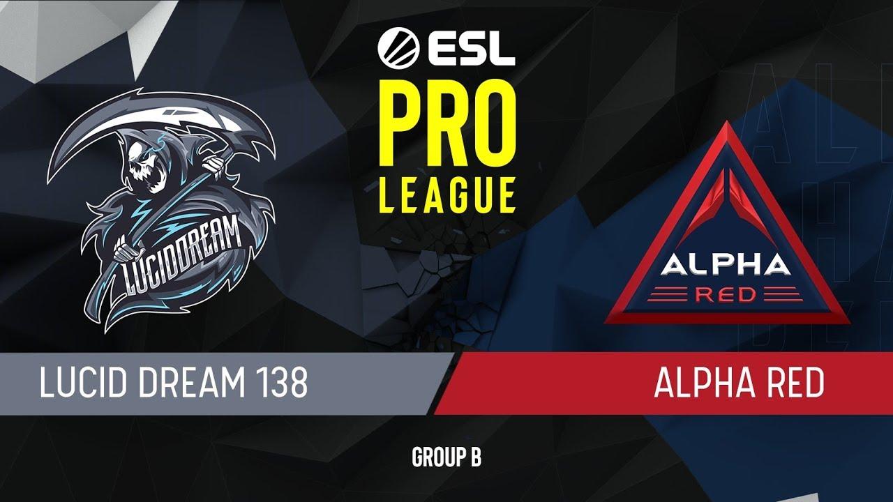 CS:GO - Alpha Red vs  Lucid Dream [Dust2] Map 1 - Group B - ESL Pro League  Season 9 APAC