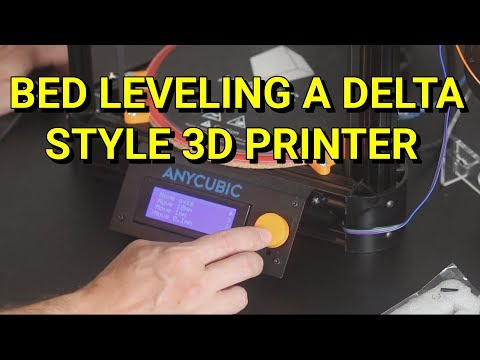 Manual calibration on a Kossel Delta style 3D Printer with Marlin firmware AKA Bed leveling
