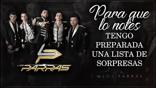 (LETRA) ¨PARA QUE LO NOTES¨ - Los Parras (Lyric Video)