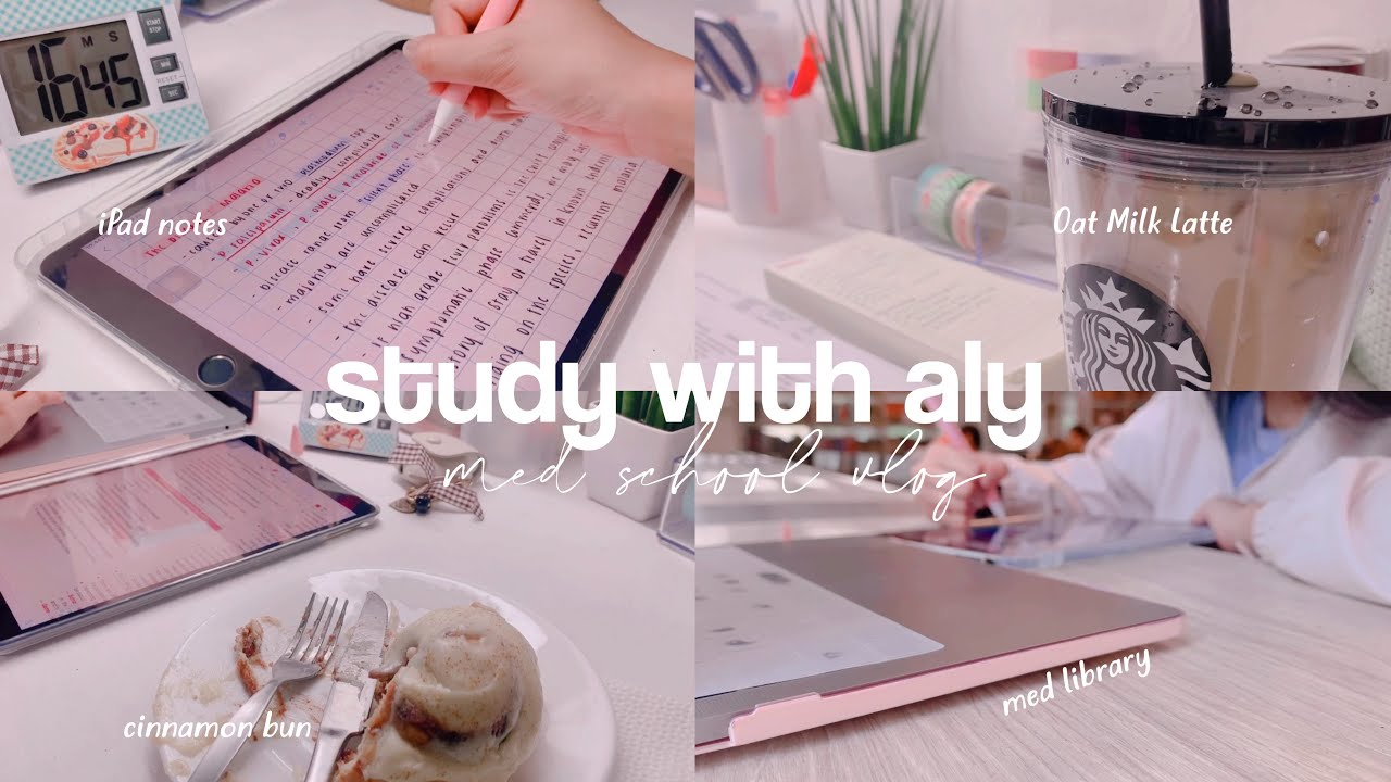 Download study with aly - ipad notes, food, med library // weekly med school vlog