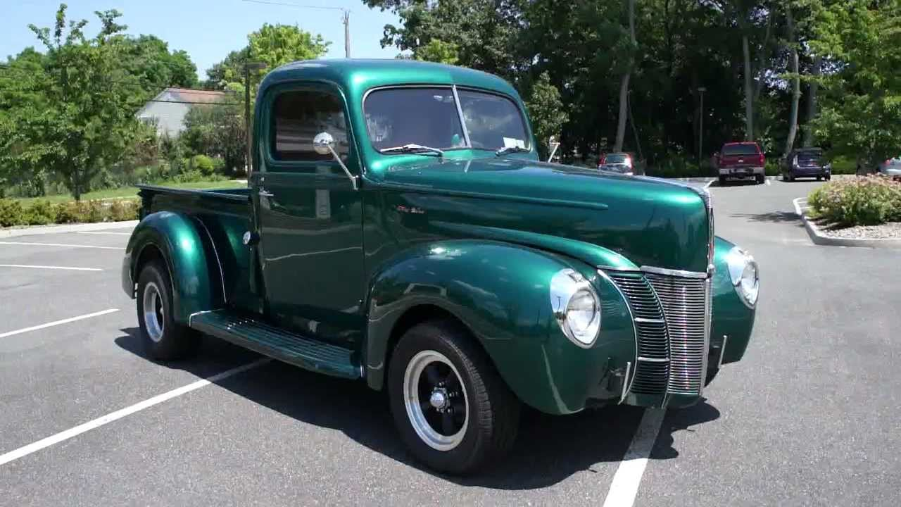 1946 1940 ford delux pick up for sale a c over the top doovi. Black Bedroom Furniture Sets. Home Design Ideas