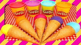 Play Doh Ice Cream Cone Toys Surprise Eggs Toy Story Playdough Simpsons Spongebob Shrek