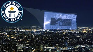 Largest aerial projection promotes 2016 MTV VMAs - Guinness World Records