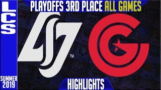 CLG vs CG Highlights ALL GAMES | LCS Summer 2019 Playoffs 3rd Place | Counter Logic Gaming vs Clutch