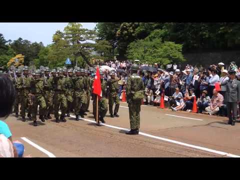 2014年5月24日(土) 陸上自衛隊金沢駐屯地 第14普通科連隊創隊60周年記念 陸海空自衛隊市中パレード