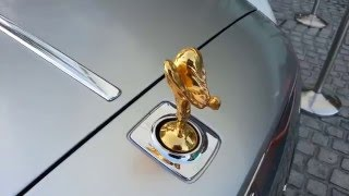 Golden Rolls Royce Emily at Burj Al Arab Dubai
