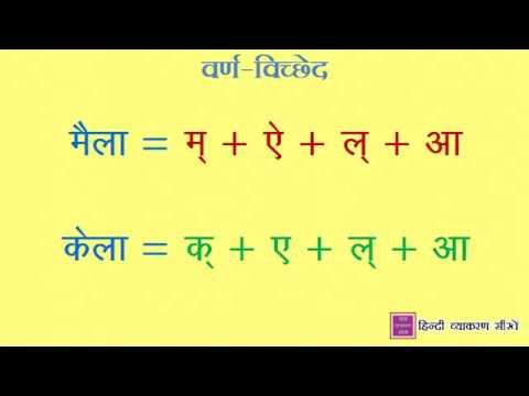 हिंदी व्याकरण सीखें: Varn Vichchhed (वर्ण विच्छेद)
