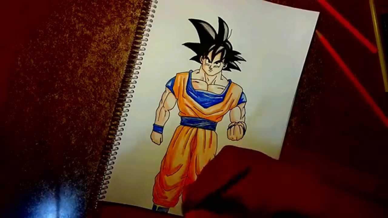 como dibujar a goku para principiantes how to draw goku