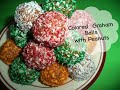 Colored Graham Balls with crushed Peanuts