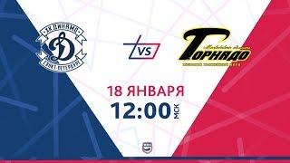 """LIVE """"Динамо СПб"""" - """"Торнадо"""", 18.01.2019"""