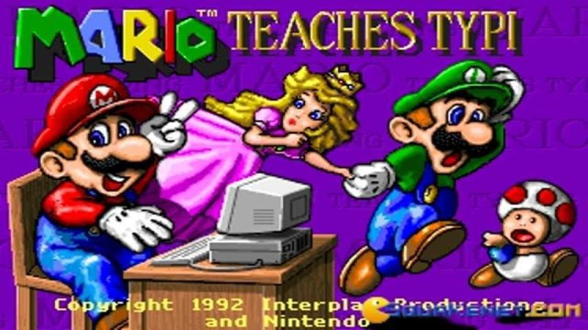 Mario Teaches Typing gameplay (PC Game, 1992)