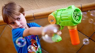 SOAP BUBBLE TOY FOR KIDS FROM TOYS R US!! Maikito & Family