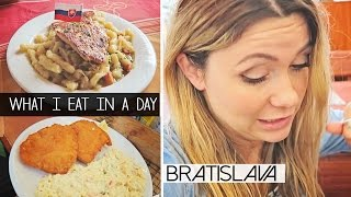 What I Eat In A Day | BRATISLAVA