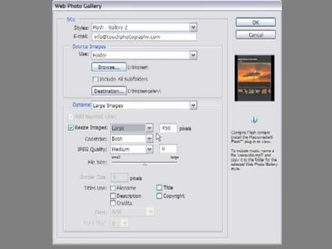 How to Create a Web Photo Gallery in Photoshop