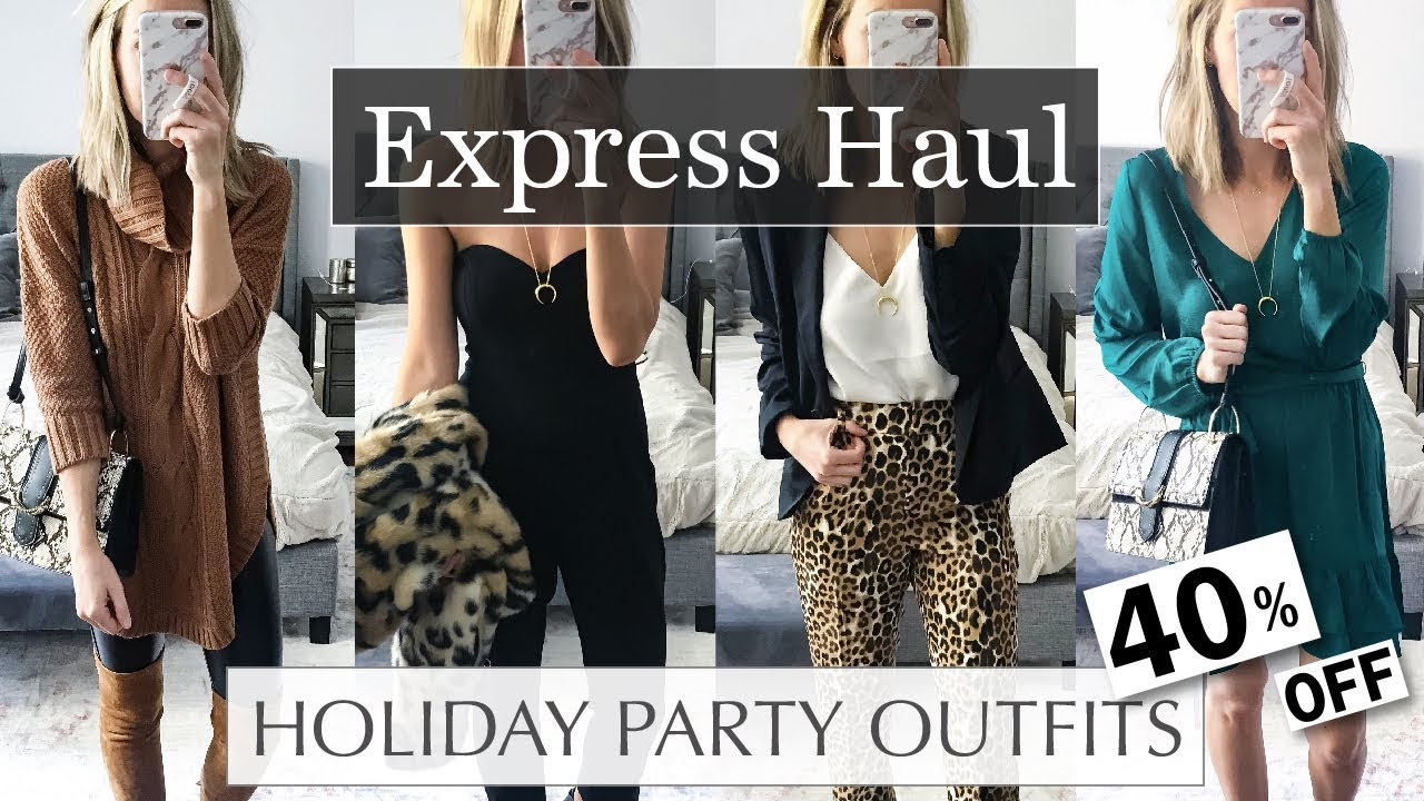 a99d7219 Holiday Party Outfit Ideas 2018 Express Try On Haul - YouTube