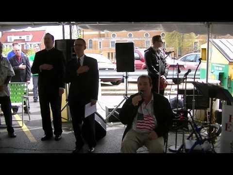 Polish and US anthems at Constitution Day 2014