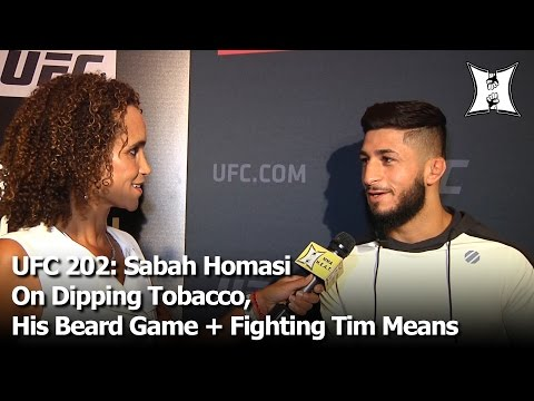 UFC 202: Sabah Homasi On Dipping Tobacco, His Beard Game + Getting The Call To Fight Tim Means