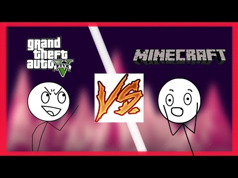 GTA GAMERS VS MINECRAFT GAMERS!! PARODY PARODY!!