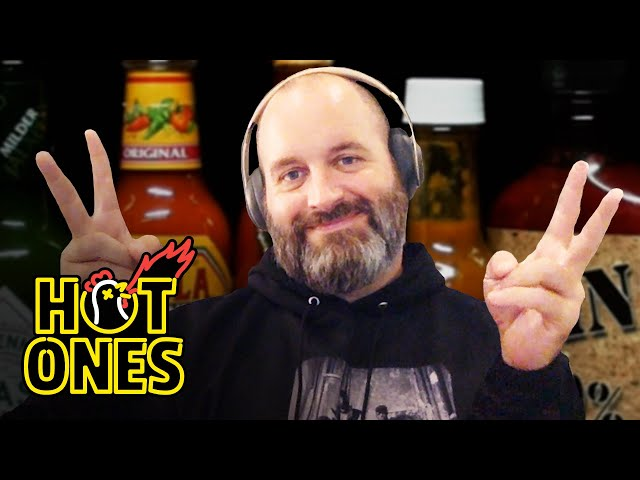 Tom Segura Keeps It High and Tight While Eating Spicy Wings | Hot Ones