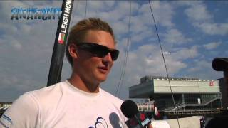 Kylel Langford, Tactician aboard The Wave Muscat at the 2011 Extreme Sailing Series - Boston