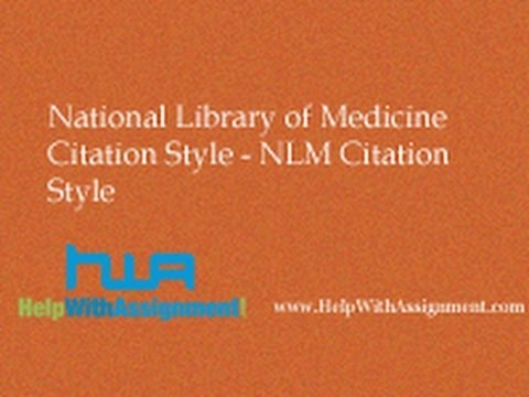 National Library of Medicine Citation Style - NLM Citation Style