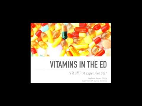 Vitamins in the ED: Is it all just expensive pee?