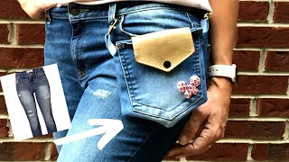 Pochete de Calça Jeans – DIY Mini Belt Pouch From Old Jeans