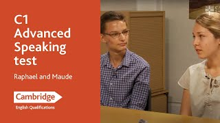 C1 Advanced speaking test - Raphael and Maude | Cambridge English